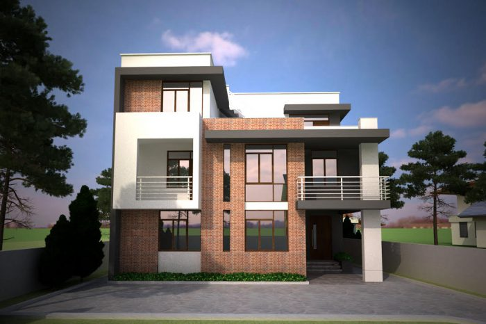 house designer. Residential House Design  Kalanki KTM in Nepal Interior Designer Green