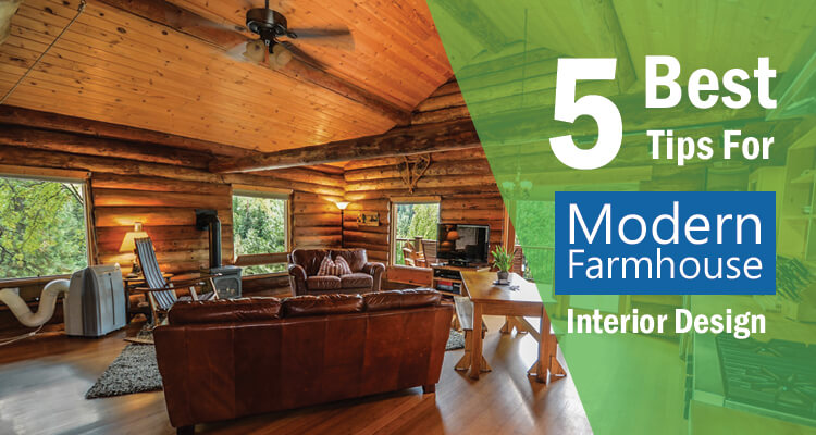 Modern farmhouse interior design